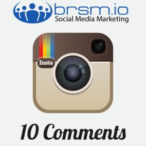 Instagram comments with BRSM.IO