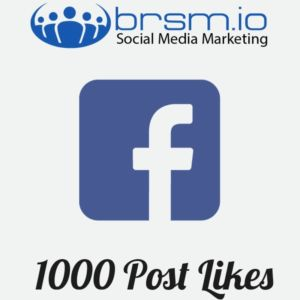 facebook post likes with BRSM