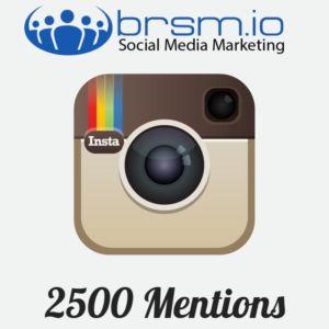 2500 instagram mentions