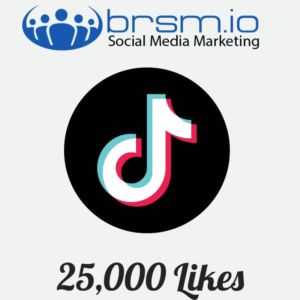 25000 tiktok likes