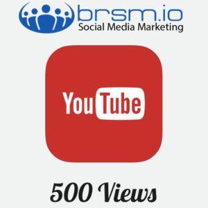 500 youtube views