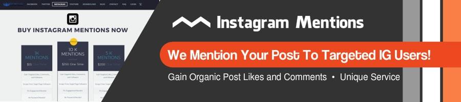 Get Instagram mentions
